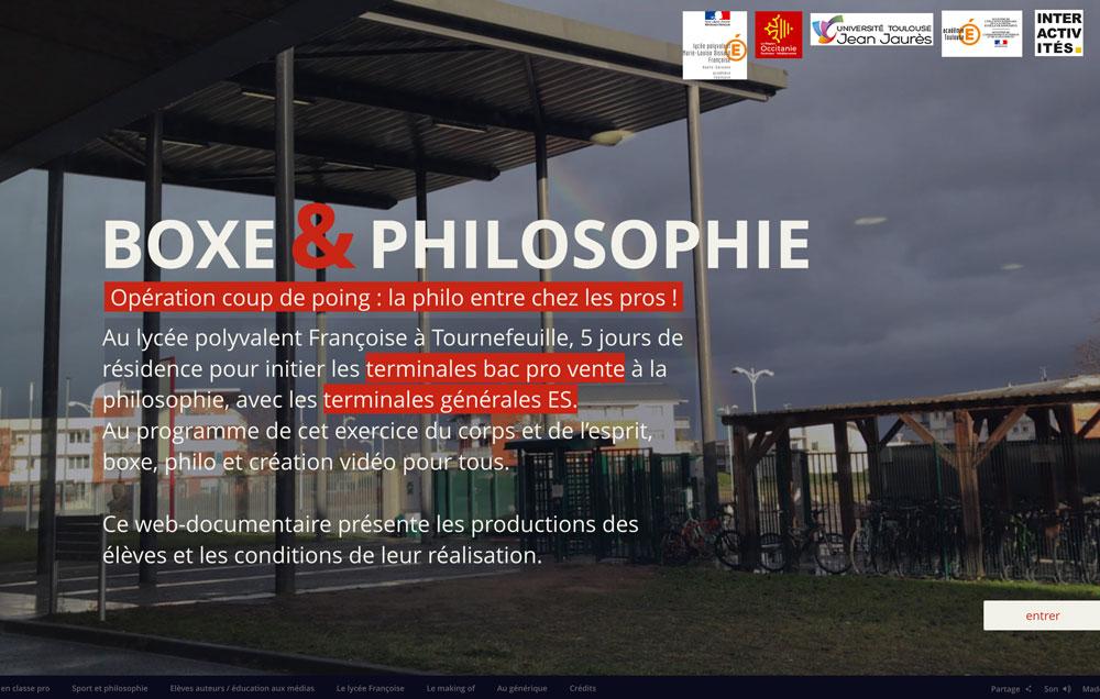 Boxe&philosophie, un webdoc au lycée Françoise